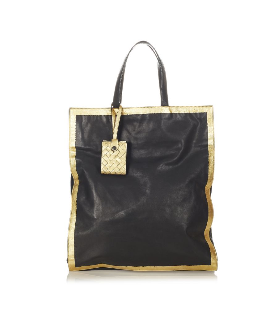 Image for Vintage Bottega Veneta Leather Tote Bag Black