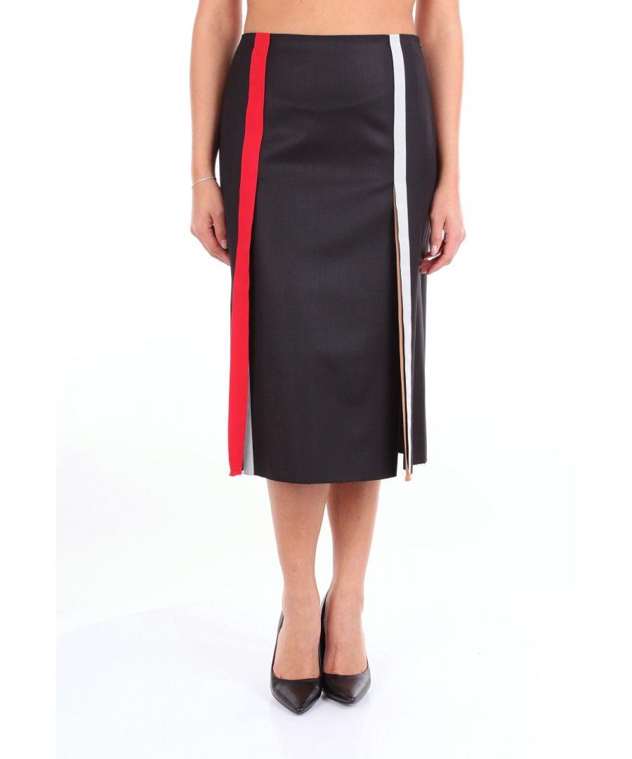 Image for MARCO DE VINCENZO WOMEN'S MQ5214A4DLBLACK BLACK WOOL SKIRT