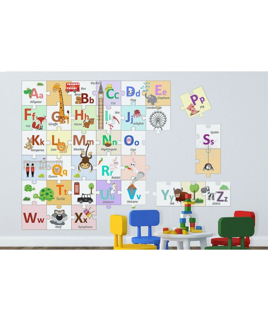 Image for Marvelous London Alphabets Learning Puzzle Sticker Wall Sticker Mural  36 pieces (20cm x 20cm)
