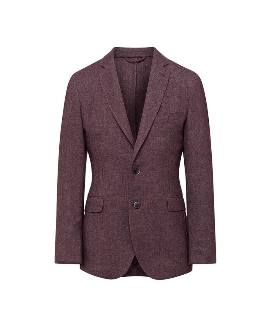 Image for Mens' Hackett, Garment-Dyed Wool Blazer in Berry