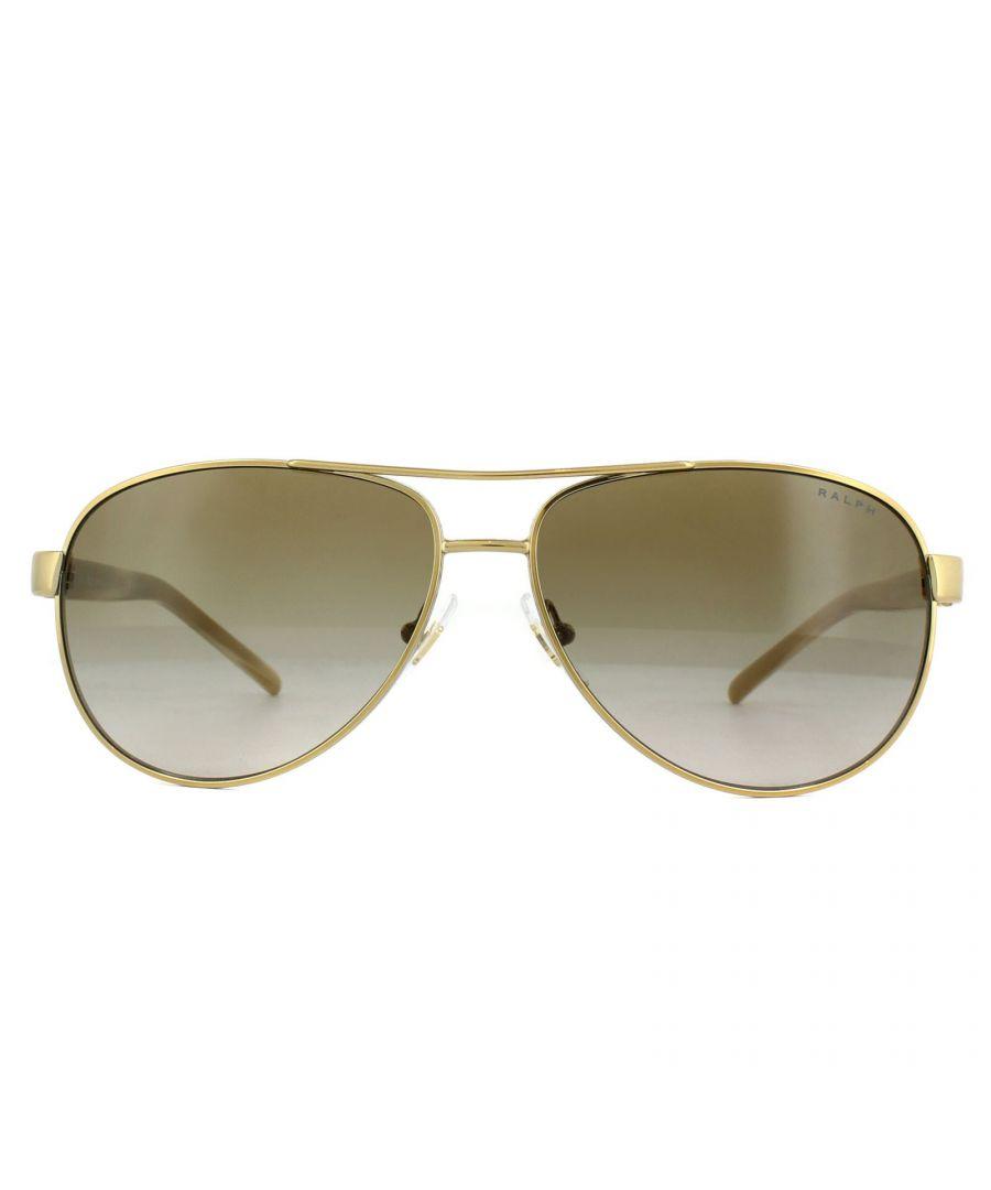 Image for Ralph by Ralph Lauren Sunglasses 4004 101/13 Gold Cream Brown Gradient