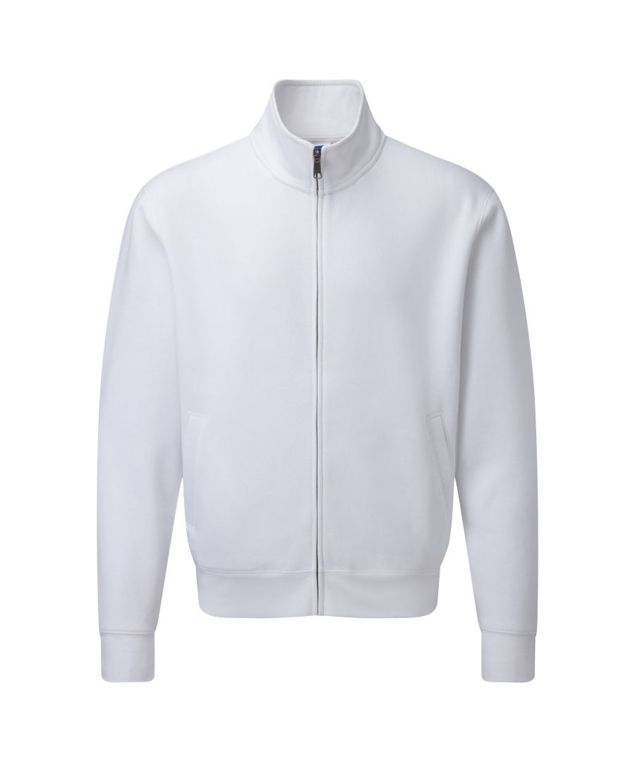 Image for Russell Mens Authentic Full Zip Sweatshirt Jacket (White)