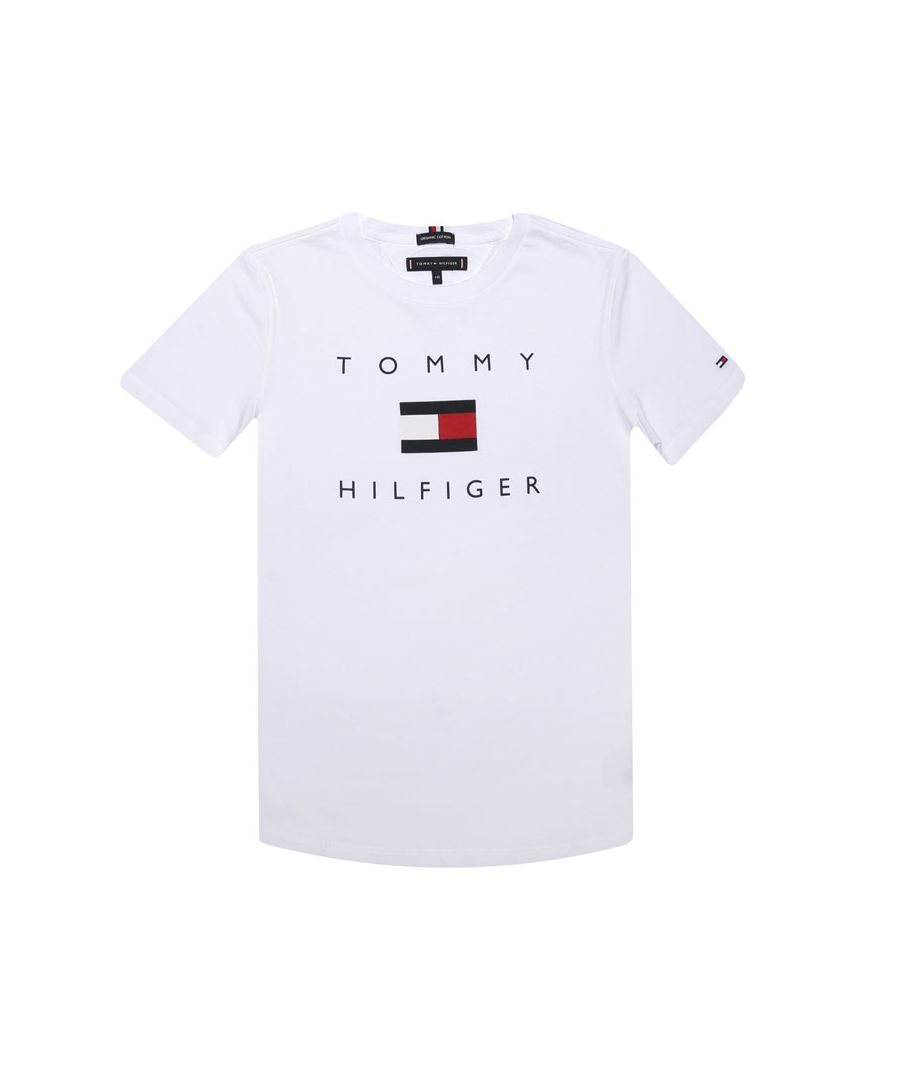 Image for Boy's Tommy Hilfiger Infant Logo Organic Cotton T-Shirt In White