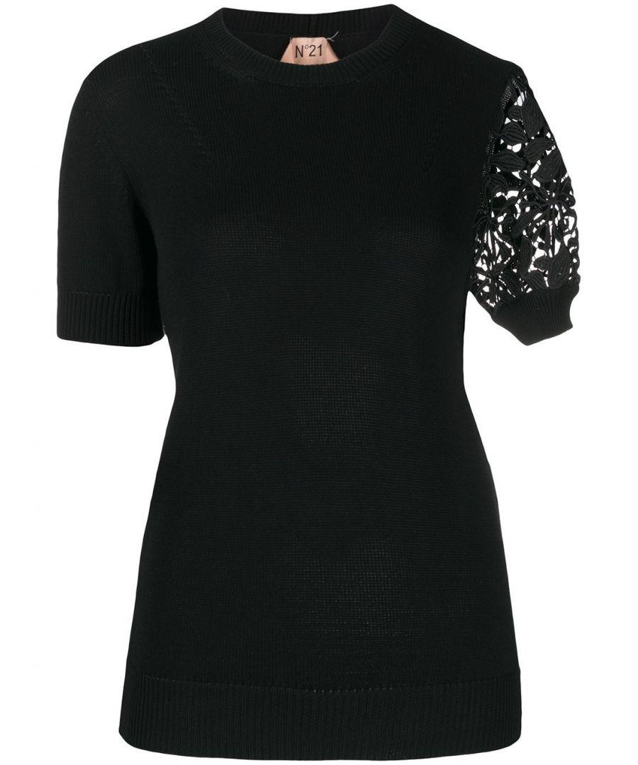 Image for N°21 WOMEN'S 20EN2M0A02176159000 BLACK COTTON T-SHIRT