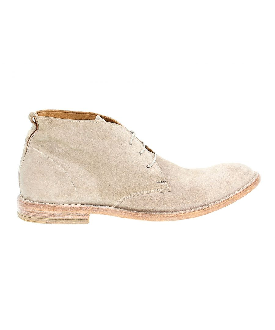 Image for MOMA MEN'S 14802 BEIGE SUEDE ANKLE BOOTS