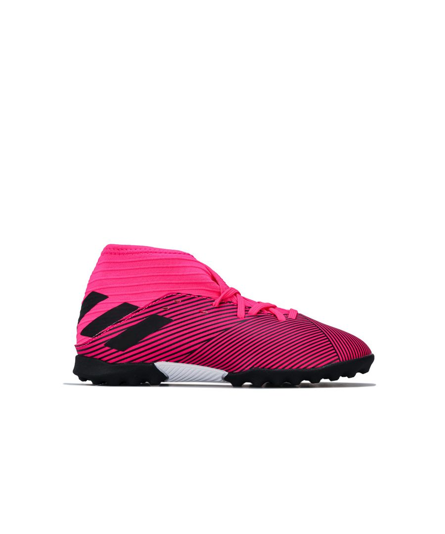Image for Boy's adidas Junior Nemeziz 19.3 Astro Turf Trainers in Pink