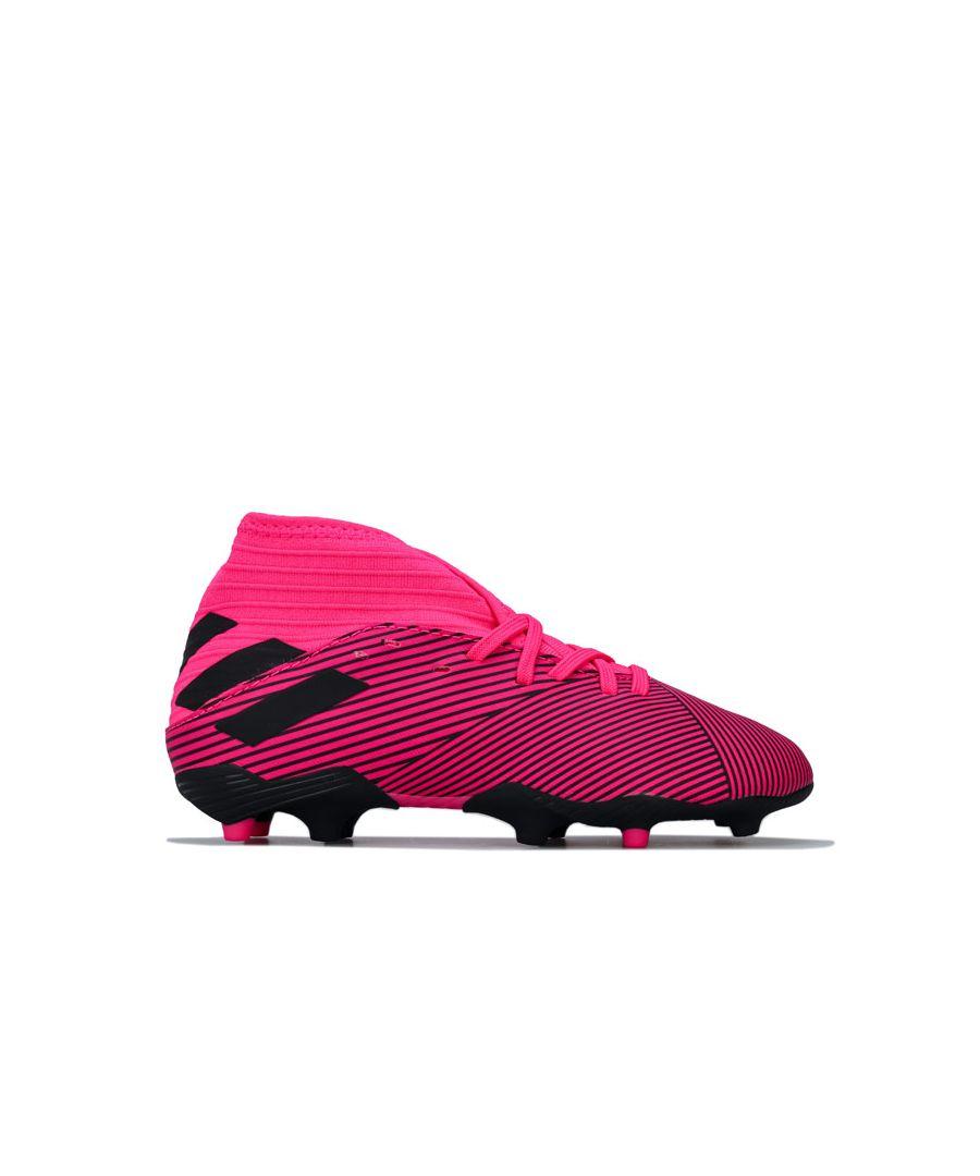 Image for Boy's adidas Junior Nemeziz 19.3 FG Football Boots in Pink