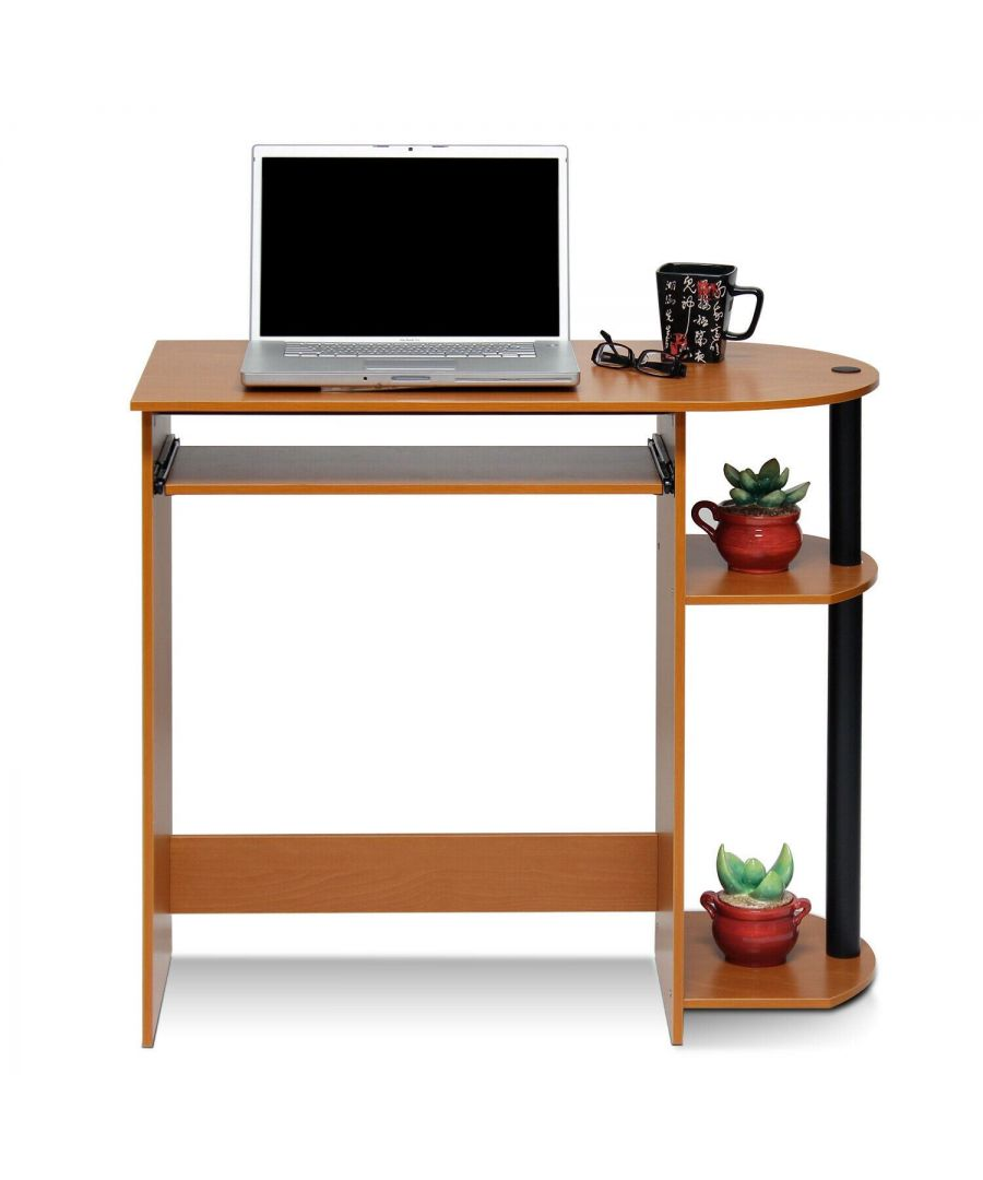 Image for Furinno Easy Assembly Computer Desk - Light Cherry