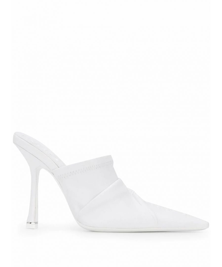 Image for ALEXANDER WANG WOMEN'S 30C120P101100 WHITE LEATHER HEELS