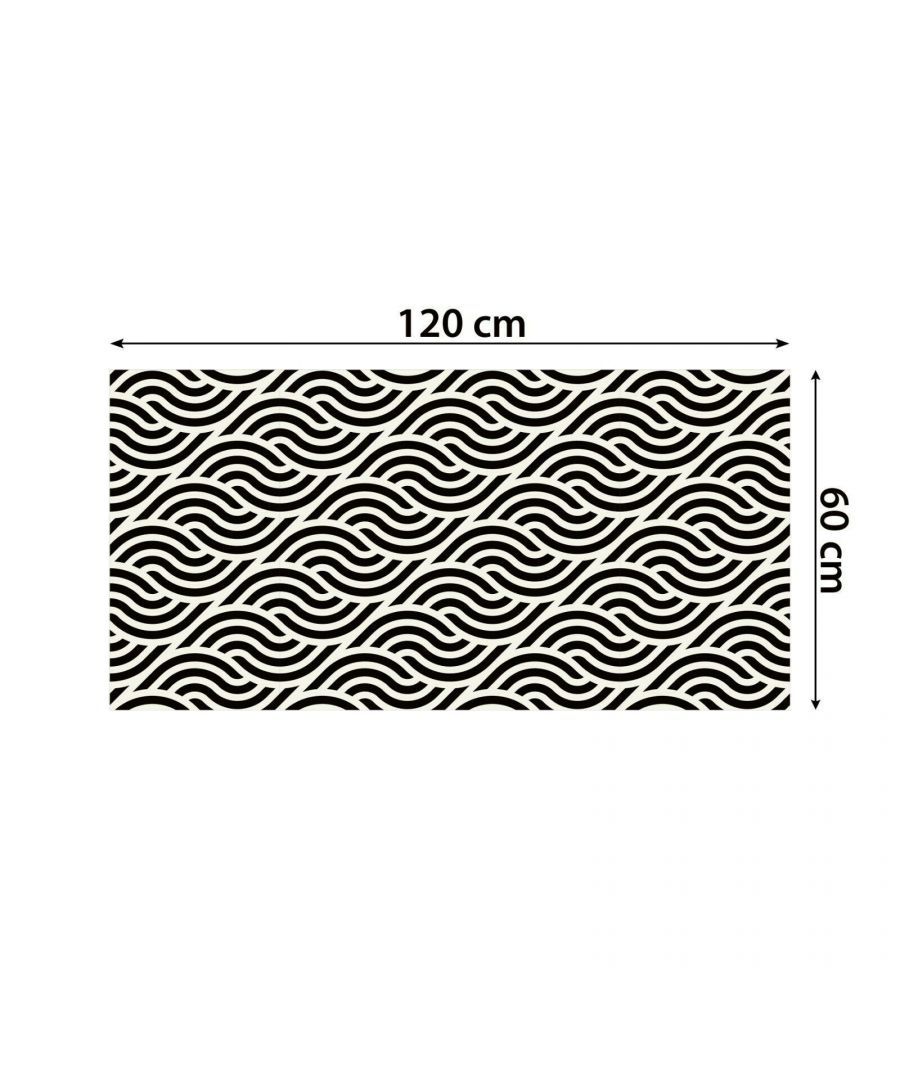 Image for WFS6029 - Small-scale Abstract Flowing Lines Pattern Tiles Floor Stickers 120cm x 60 cm