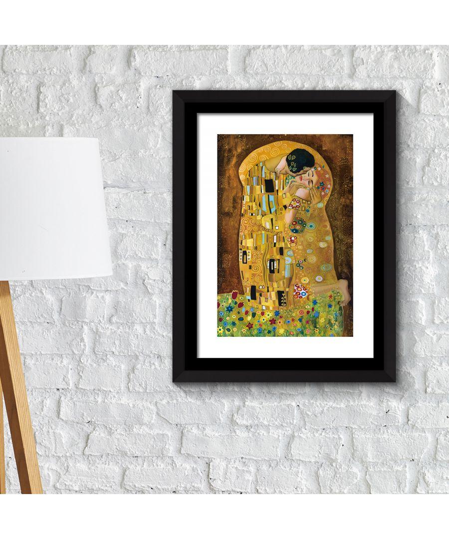Image for FA2119 - COM - WS2119 + FR030 - Framed Art 2in1 Painting Poster - The Kiss, 1907 by Gustav Klimt