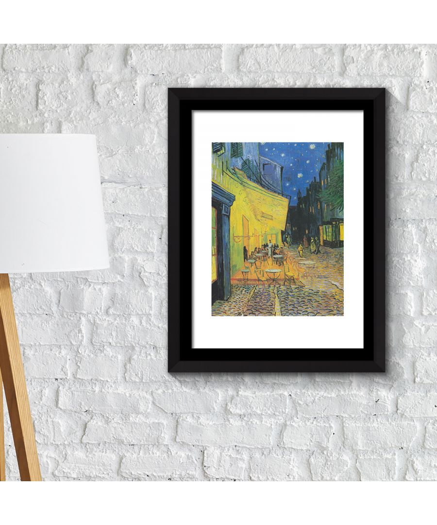 Image for FA2120 - COM - WS2120 + FR030 - Framed Art 2in1 Painting Poster - Café Terrence at Night, 1888 by Vincent van Gogh