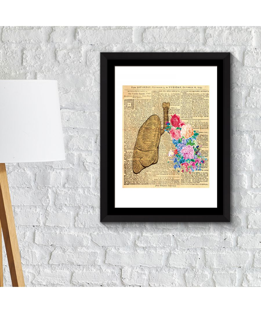 Image for FA2126 - COM - WS2126 + FR030 - Framed Art 2in1 Flowery Lung Poster