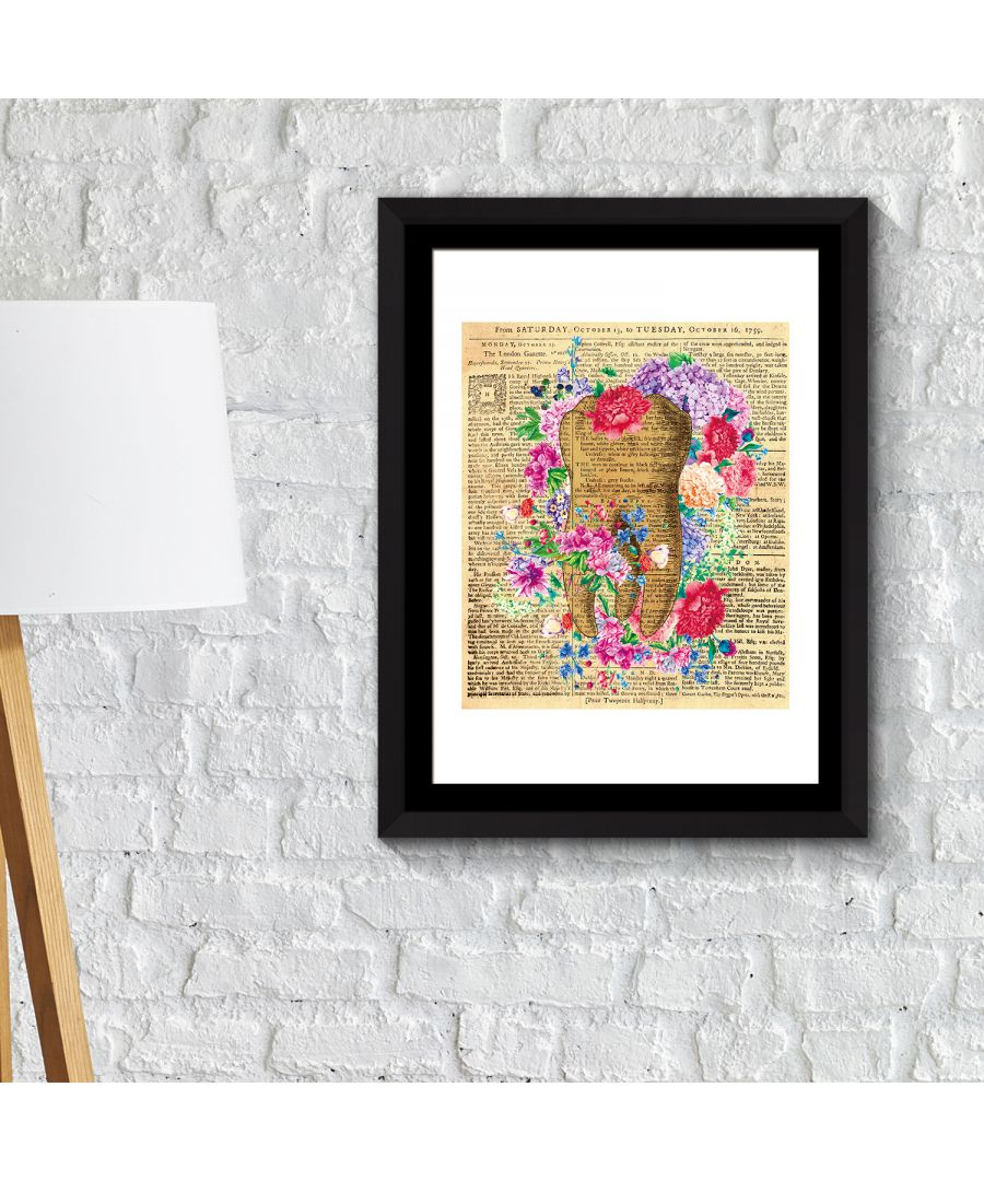 Image for FA2128 - COM - WS2128 + FR030 - Framed Art 2in1 Flowery Tooth Poster