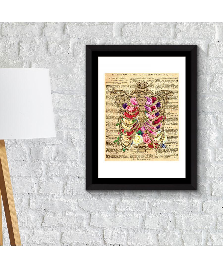 Image for FA2129 - COM - WS2129 + FR030 - Framed Art 2in1 Flowery Chest Poster