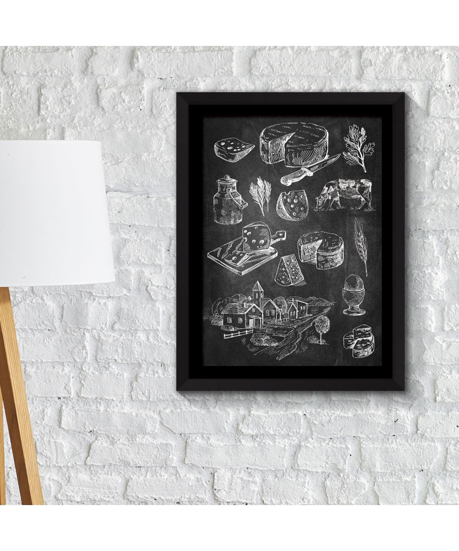 Image for FA2133 - COM - WS2133 + FR030 - Framed Art 2in1 Cakes & Cheese Poster