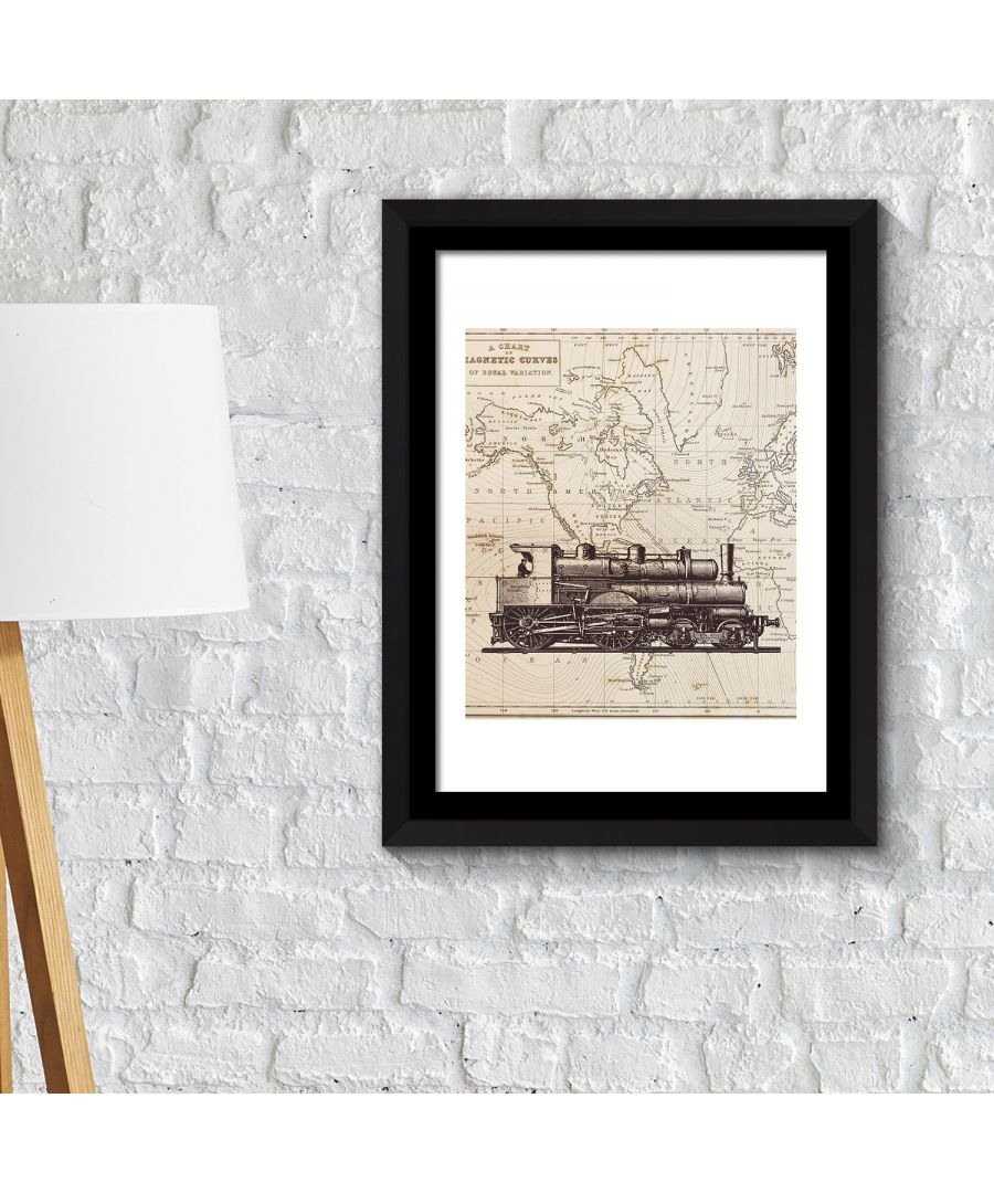 Image for FA2134 - COM - WS2134 + FR030 - Framed Art 2in1 Classic Train Poster