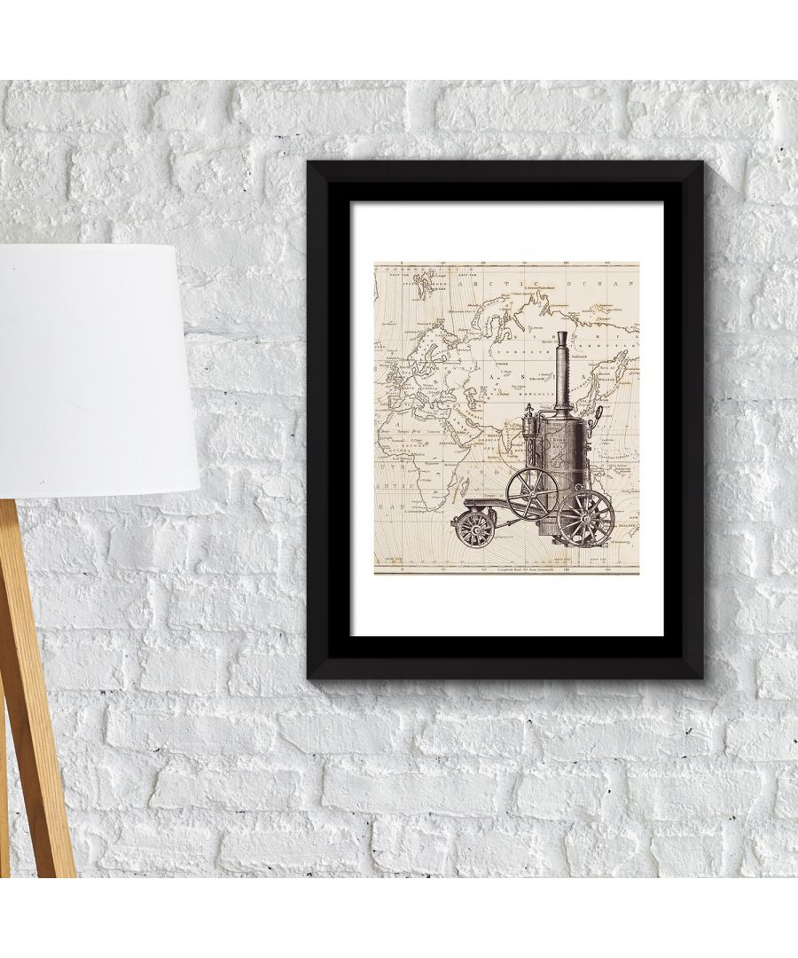 Image for FA2136 - COM - WS2136 + FR030 - Framed Art 2in1 Classic Cycle Poster