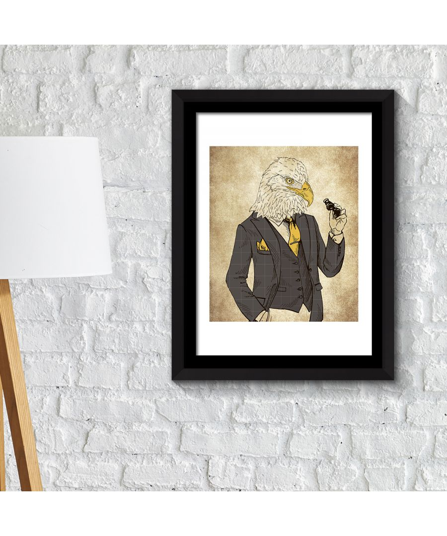 Image for FA2137 - COM - WS2137 + FR030 - Framed Art 2in1 Eagle Fashion Animals Poster