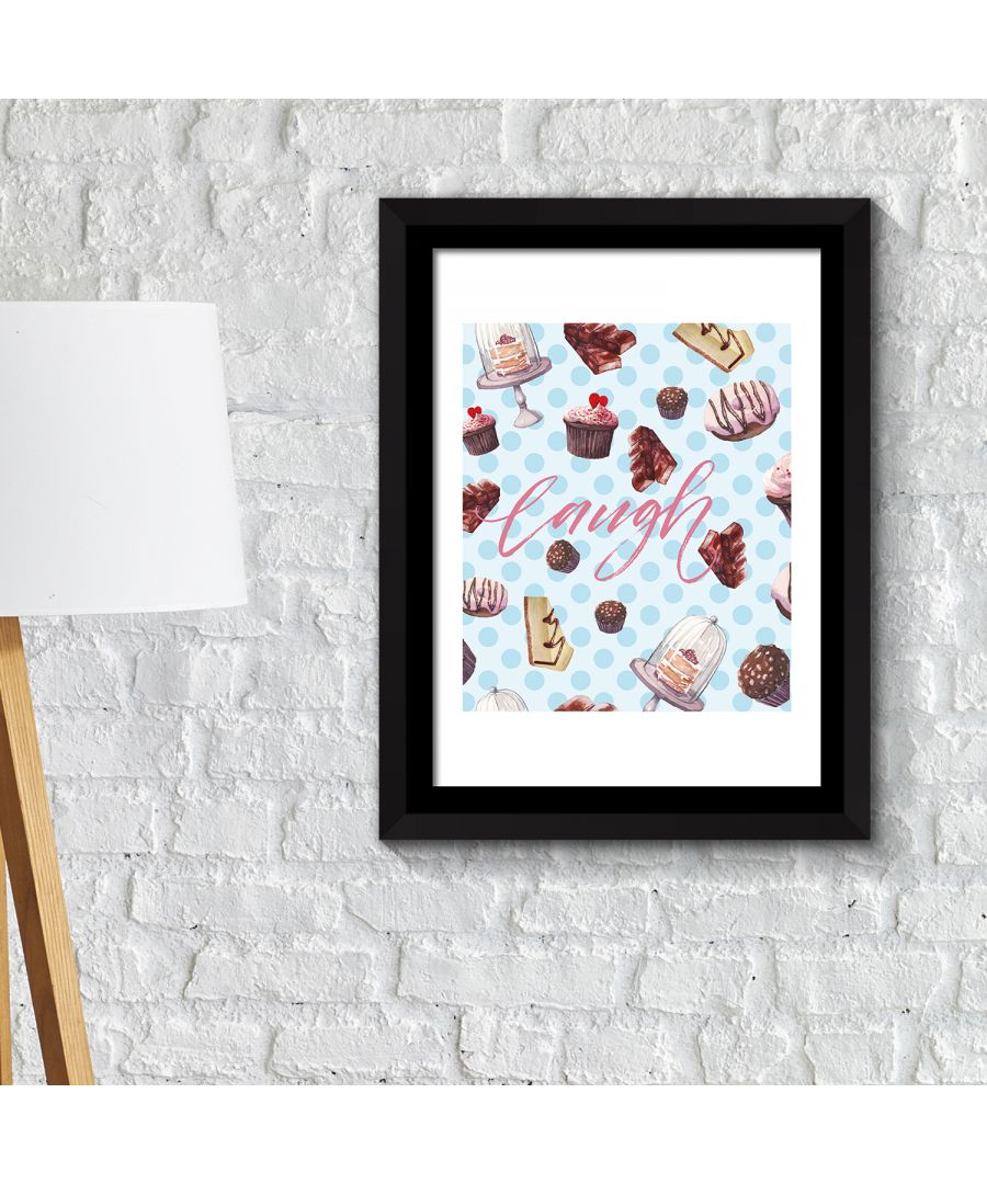 Image for FA2141 - COM - WS2141 + FR030 - Framed Art 2in1 Cup Cakes Desserts Poster