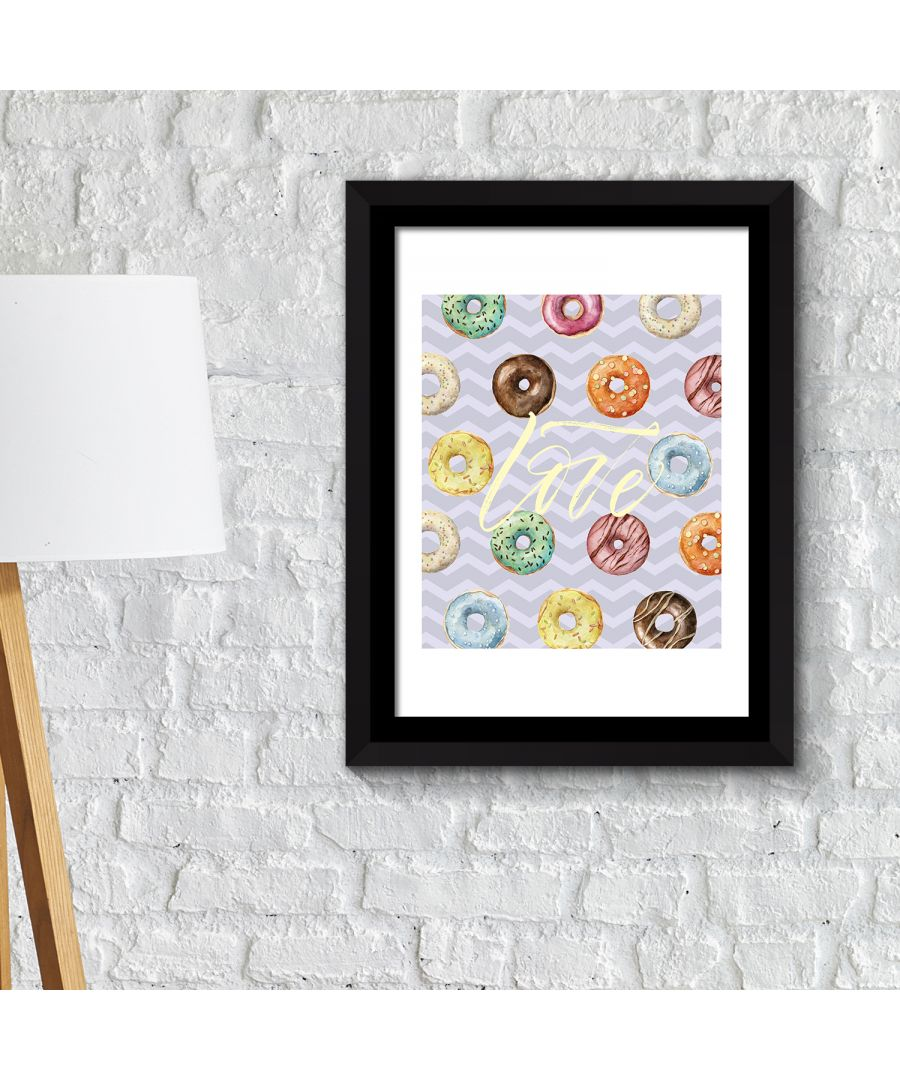 Image for FA2142 - COM - WS2142 + FR030 - Framed Art 2in1 Donut Desserts Poster