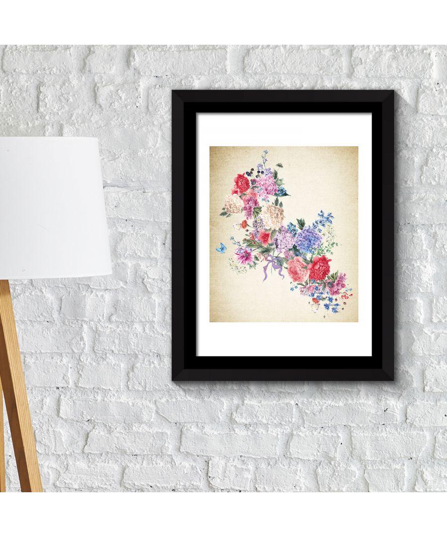 Image for FA2145 - COM - WS2145 + FR030 - Framed Art 2in1 Flower Arts 3 Poster