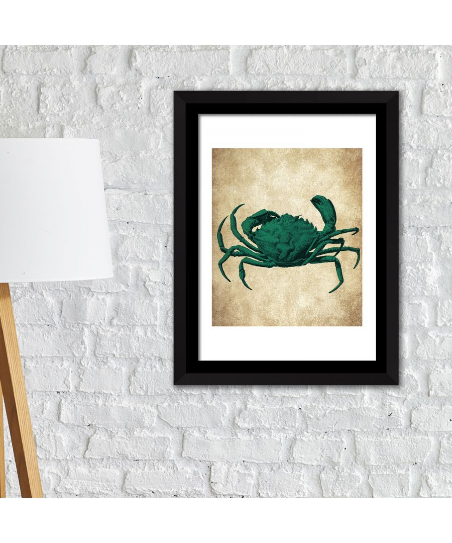 Image for FA2147 - COM - WS2147 + FR030 - Framed Art 2in1 Crab Wall Art Poster