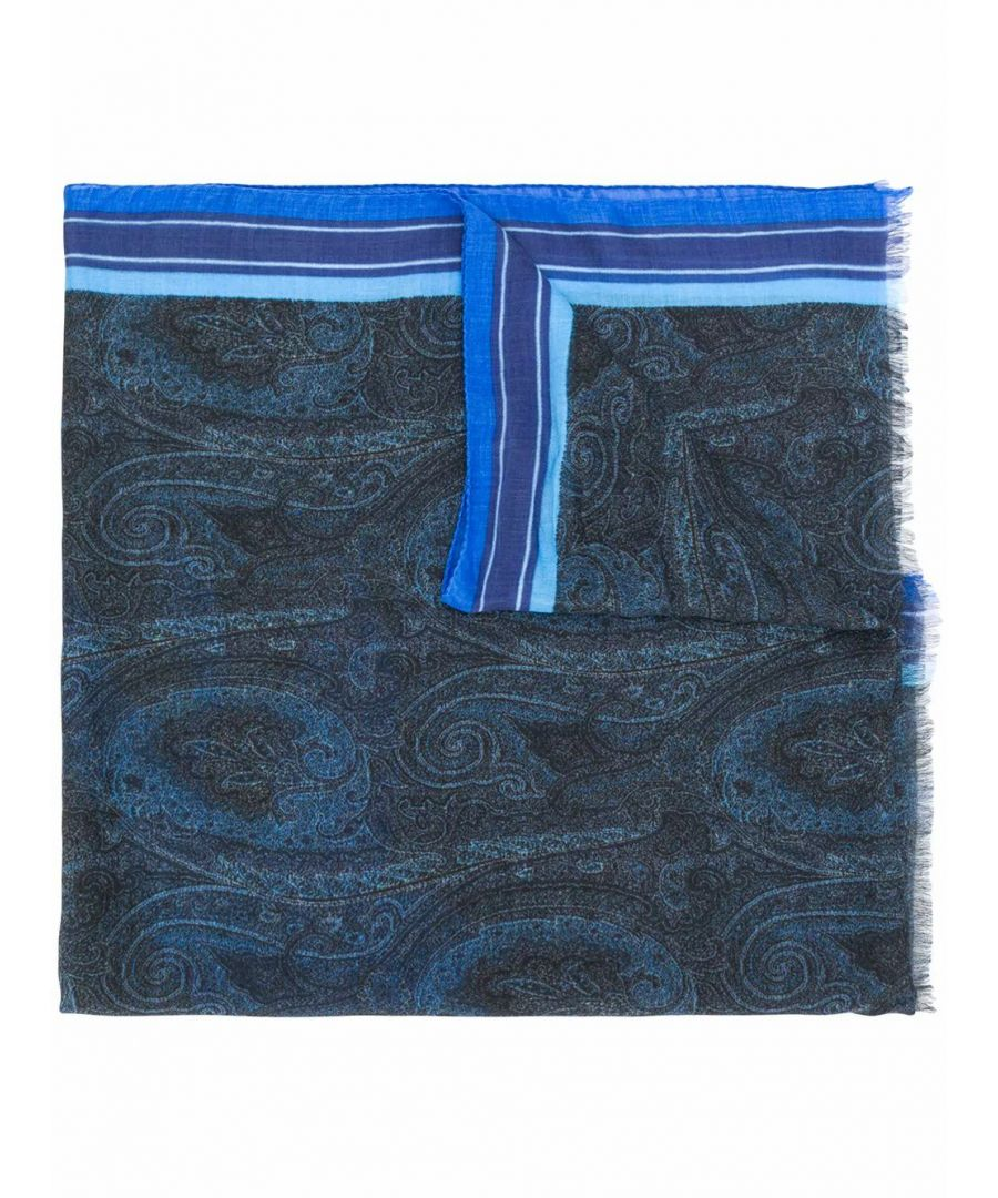 Image for ETRO MEN'S 1000750200200 BLUE MODAL SCARF