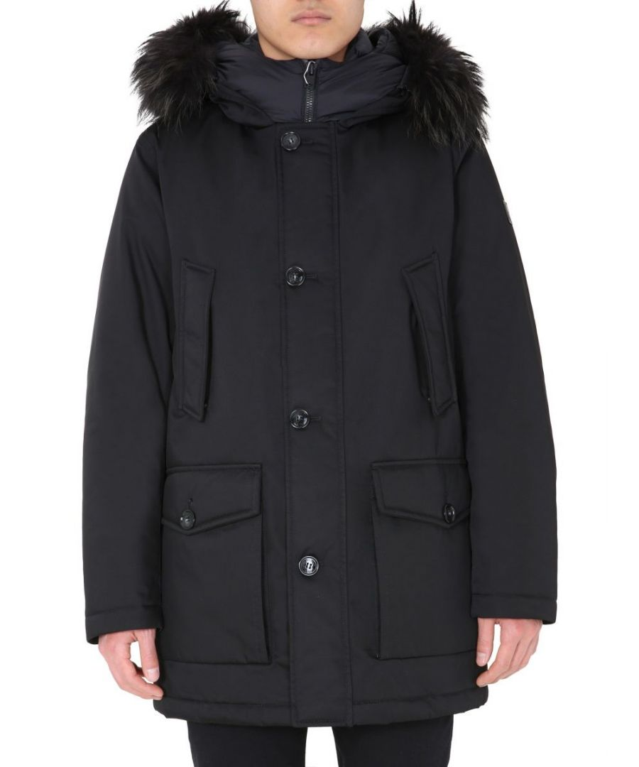 Image for WOOLRICH MEN'S WOOU0208MRUT2194100 BLACK POLYESTER OUTERWEAR JACKET
