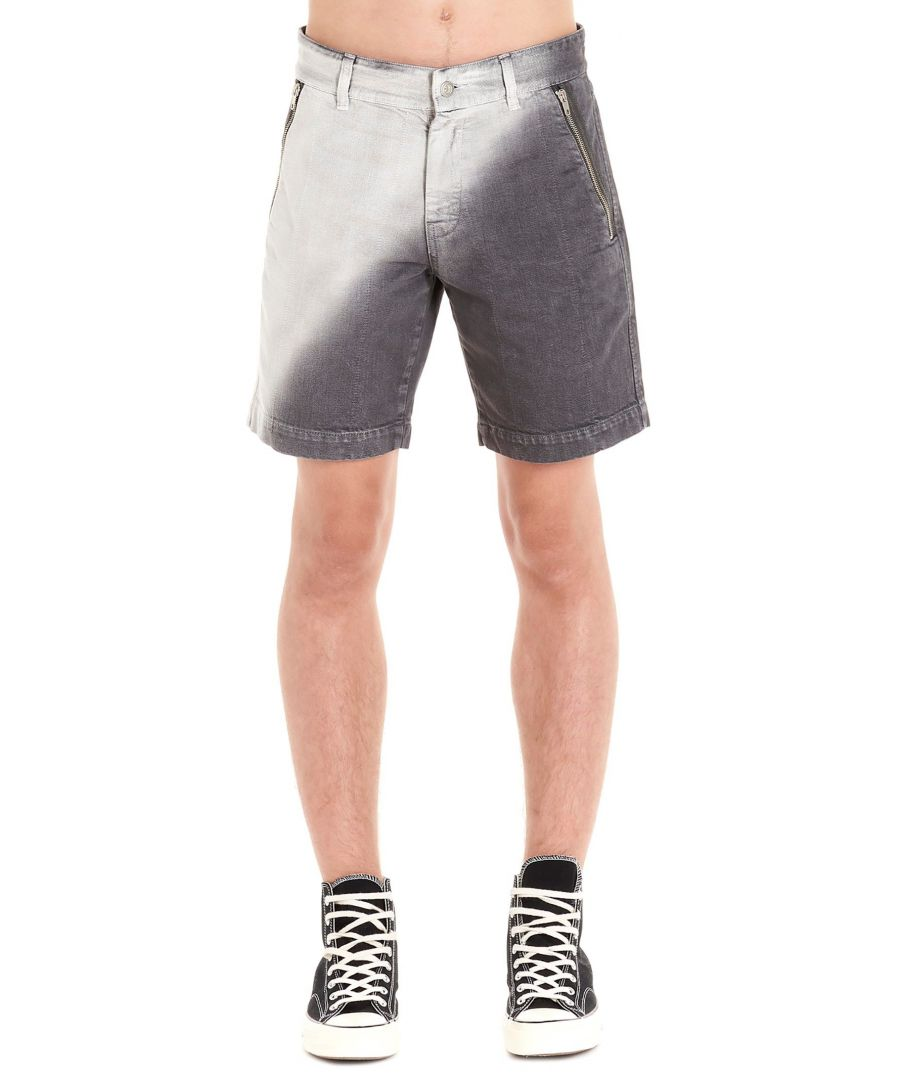 Image for DIESEL RED TAG MEN'S 00S714GREY GREY COTTON SHORTS