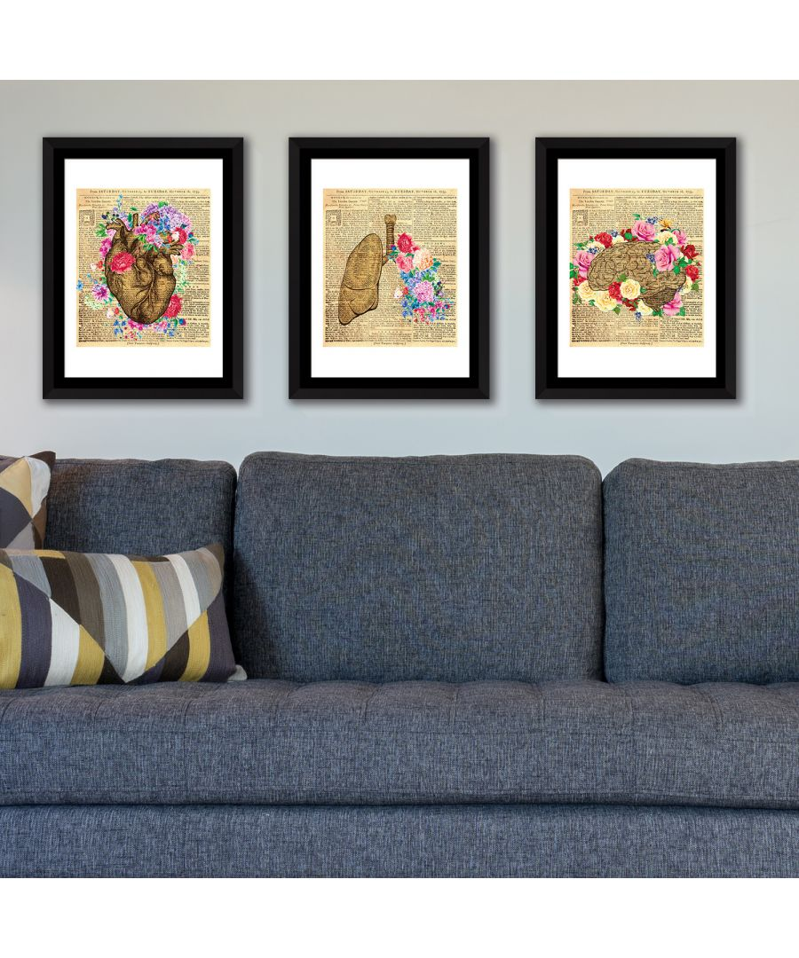 Image for FA5060 - COM - WS2130 + WS2126 + WS2125 + FR030 - Framed Art Flowery Organs