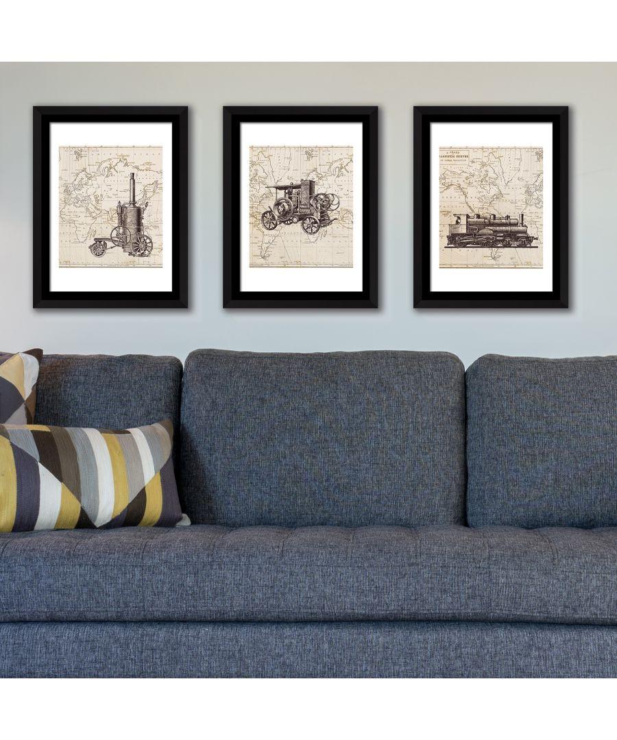 Image for FA5063 - COM - WS2136 + WS2135 + WS2134 + FR030 - Framed Art History of transportation