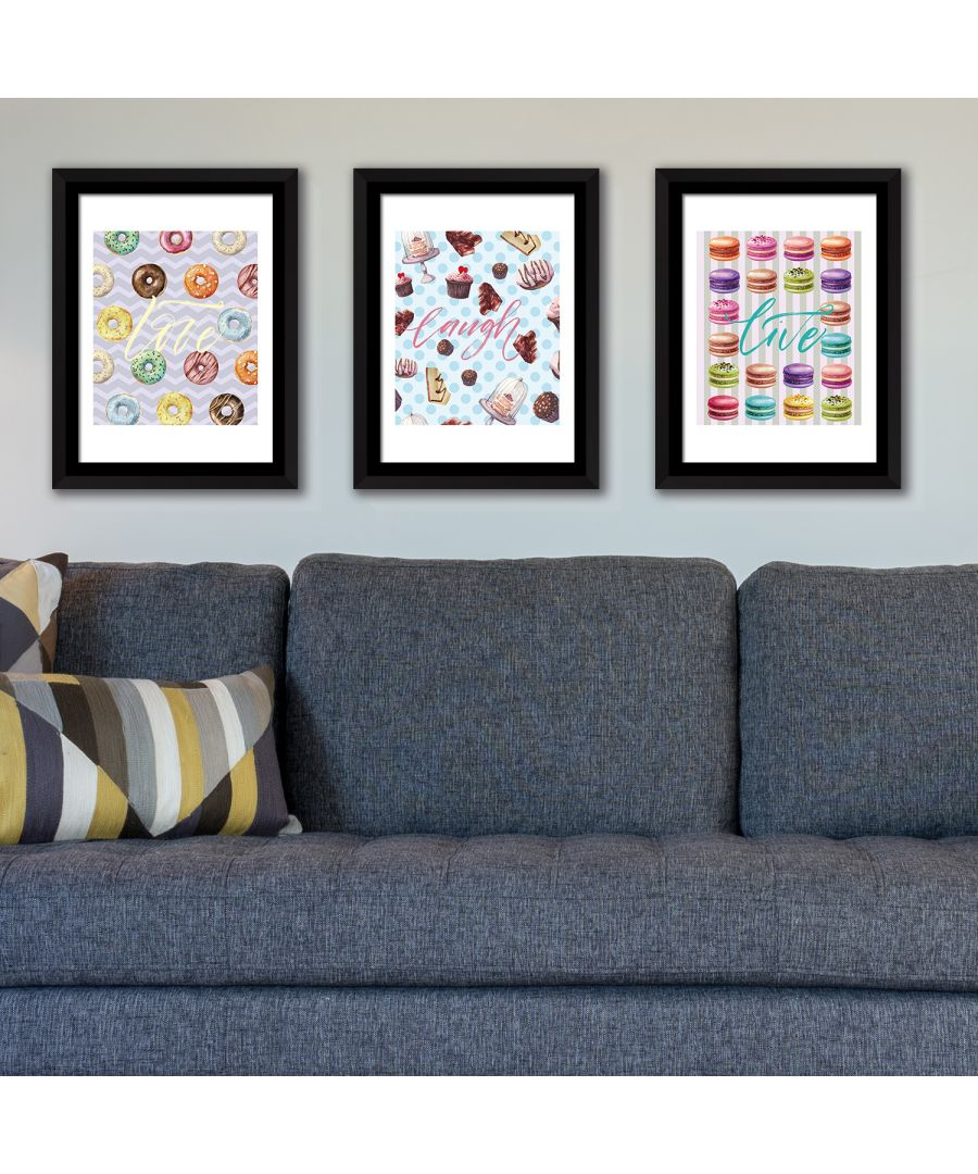Image for FA5065 - COM - WS2142 + WS2141 + WS2140 + FR030 - Framed Art Sweet Quotes