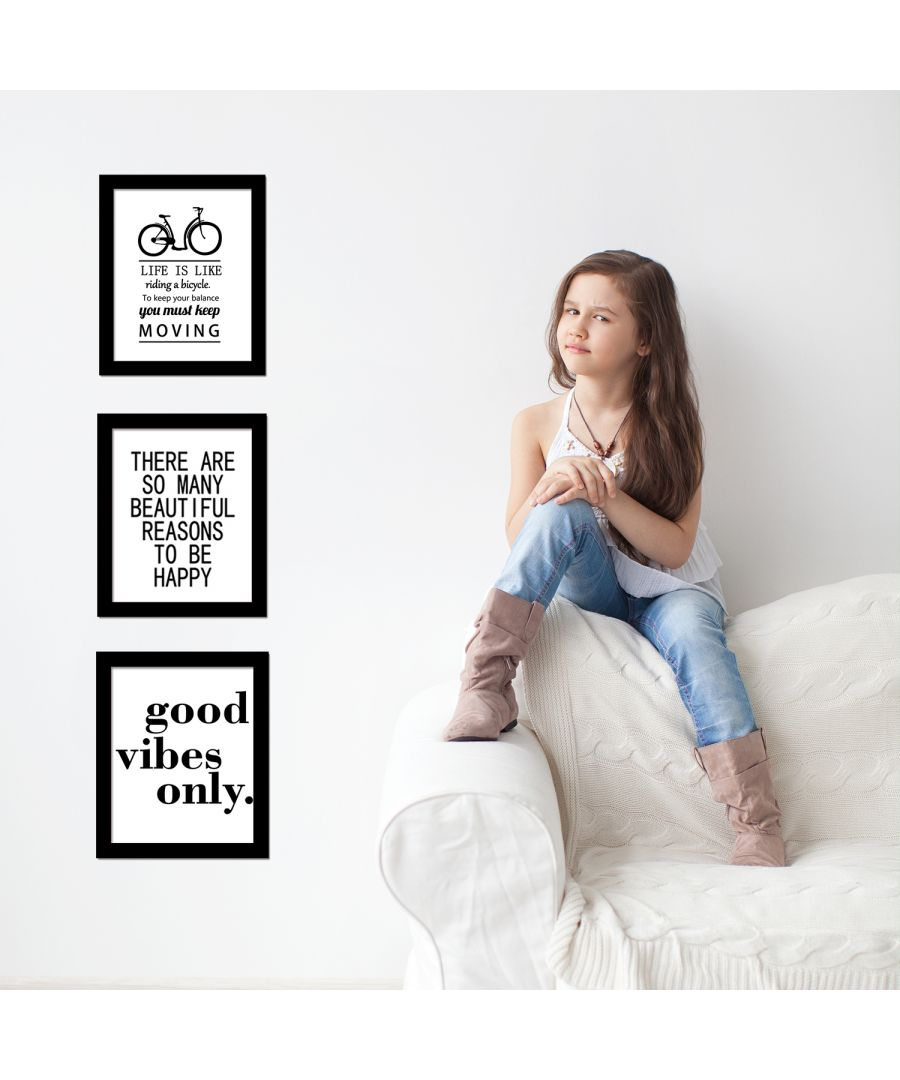 Image for FA5081 - COM - FR030 + CP014M + CP024M + CP025M - Letter Art Canvas Printing + Good Vibes Only Art Canvas Printing + Bicycle Art Canvas Printing