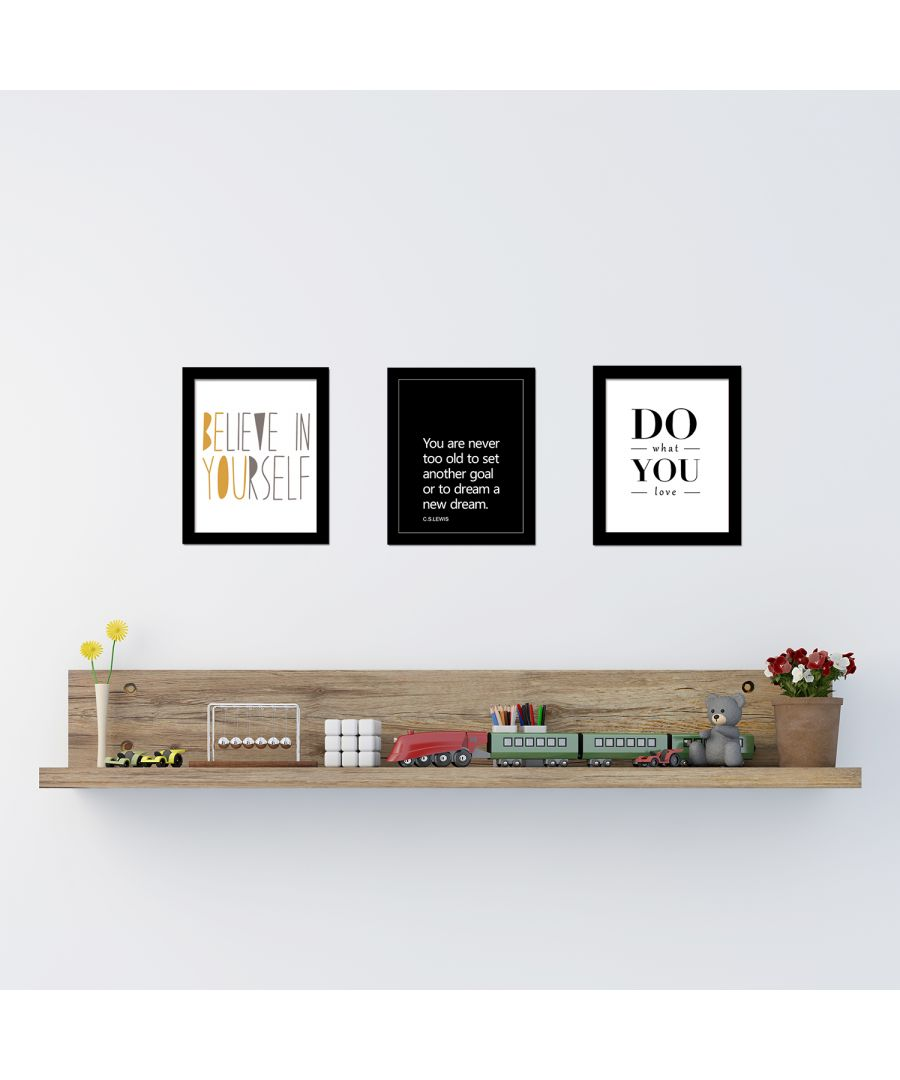 Image for FA5082 - COM - FR030 + CP030M + CP042M + CP044M - Do What You Love Art Canvas Printing + Believe In Yourslef Art Canvas Printing + Inspiration Quote Art Canvas Printing