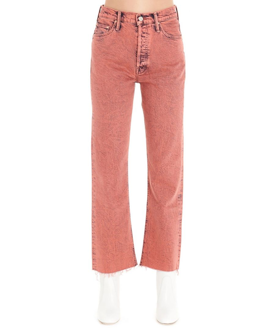 Image for MOTHER WOMEN'S 1896259RSP RED COTTON JEANS