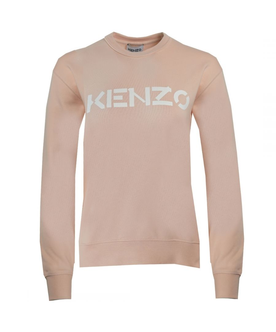 Image for Kenzo Classic Logo Pink Womens Jumper
