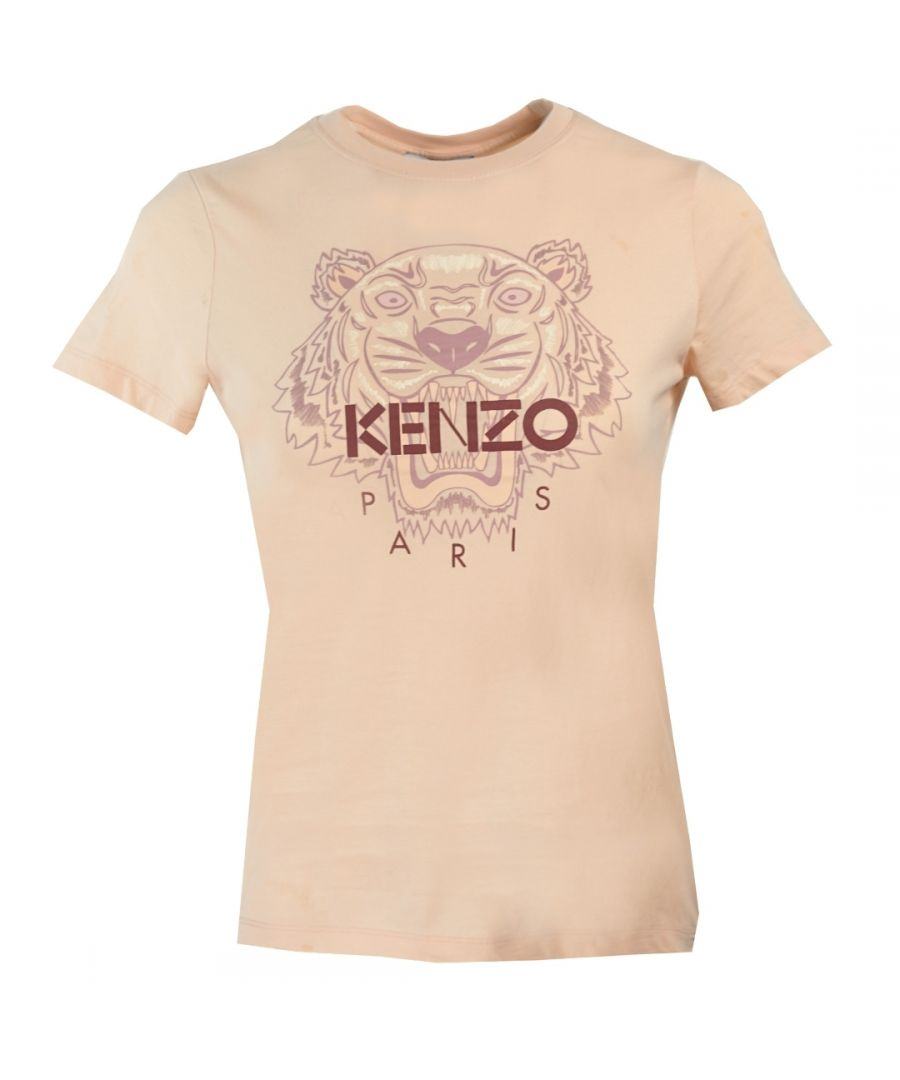 Image for Kenzo Womens Tiger Icon Logo Pink T-Shirt