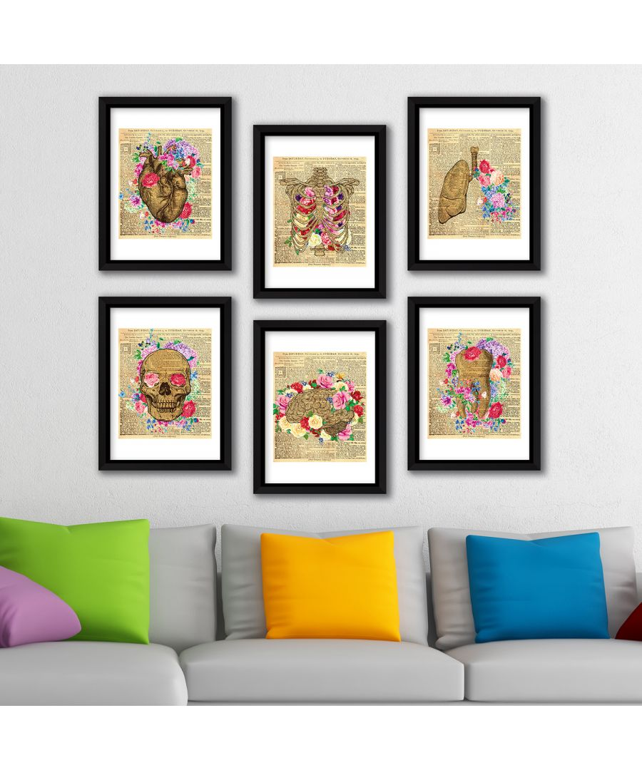 Image for FA8002 - COM - WS2130 + WS2129 + WS2128 + WS2127 + WS2126 + WS2125 + FR030 - Framed Art Flowery anatomy complete collection