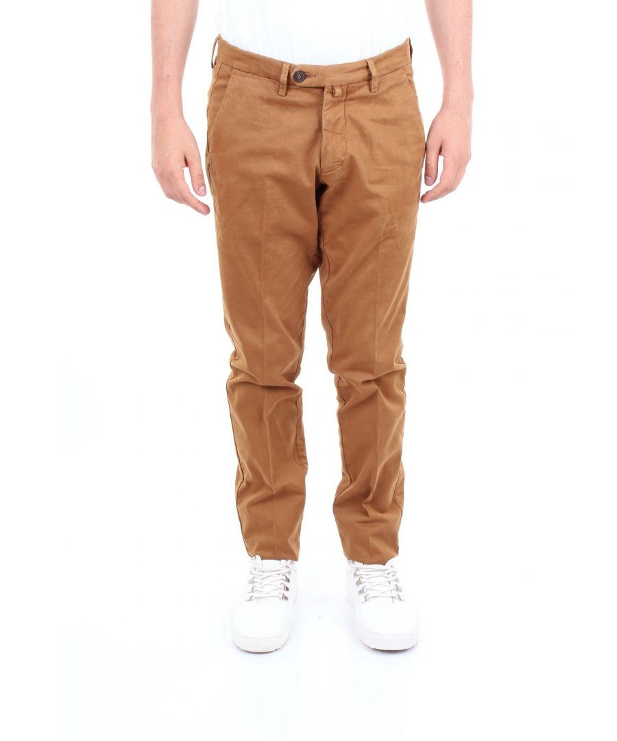 Image for MICHAEL COAL MEN'S RICKY2505LCAMEL BROWN COTTON PANTS