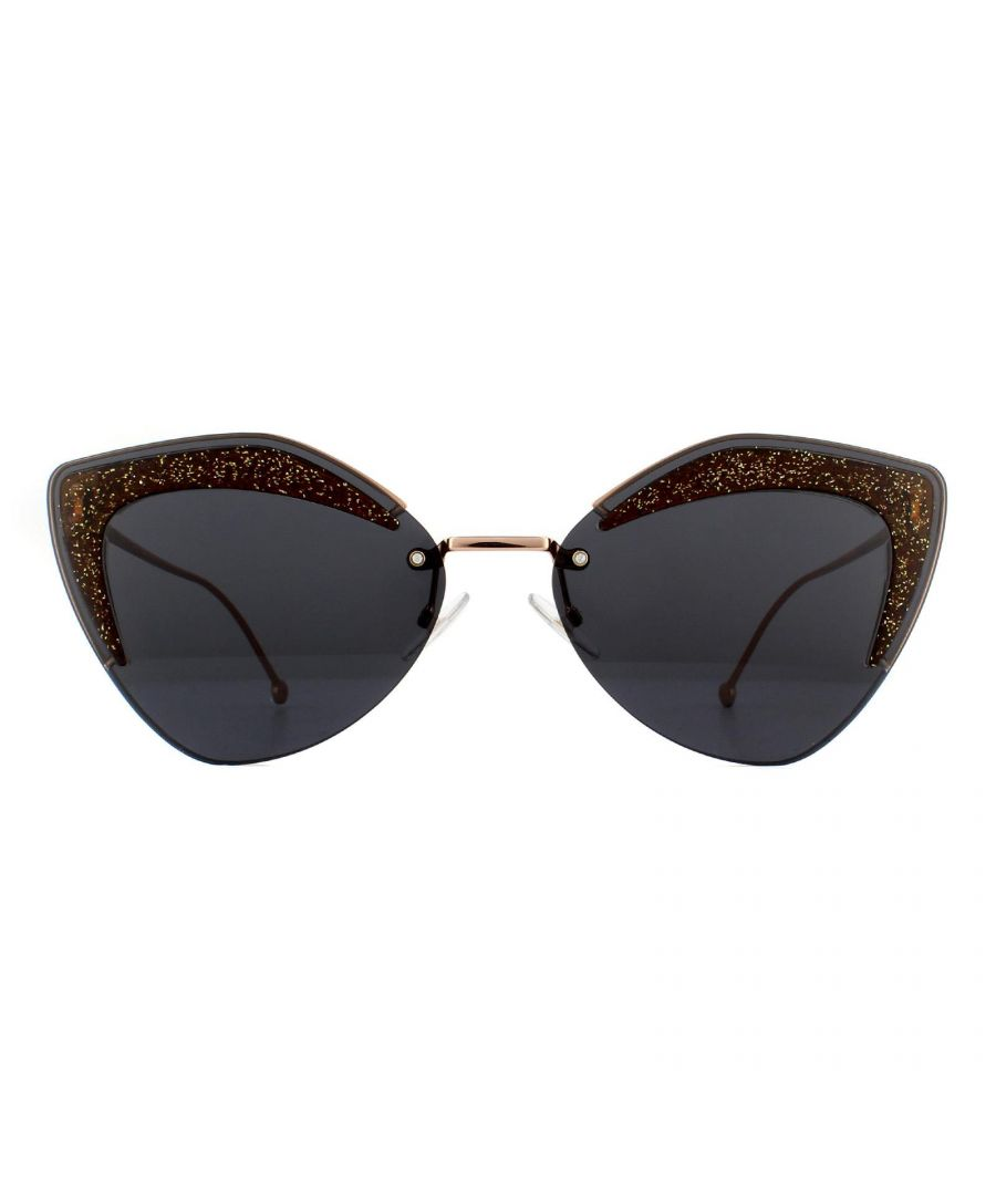 Image for Fendi Sunglasses FF 0355/S KB7 IR Copper Gold and Brown Grey