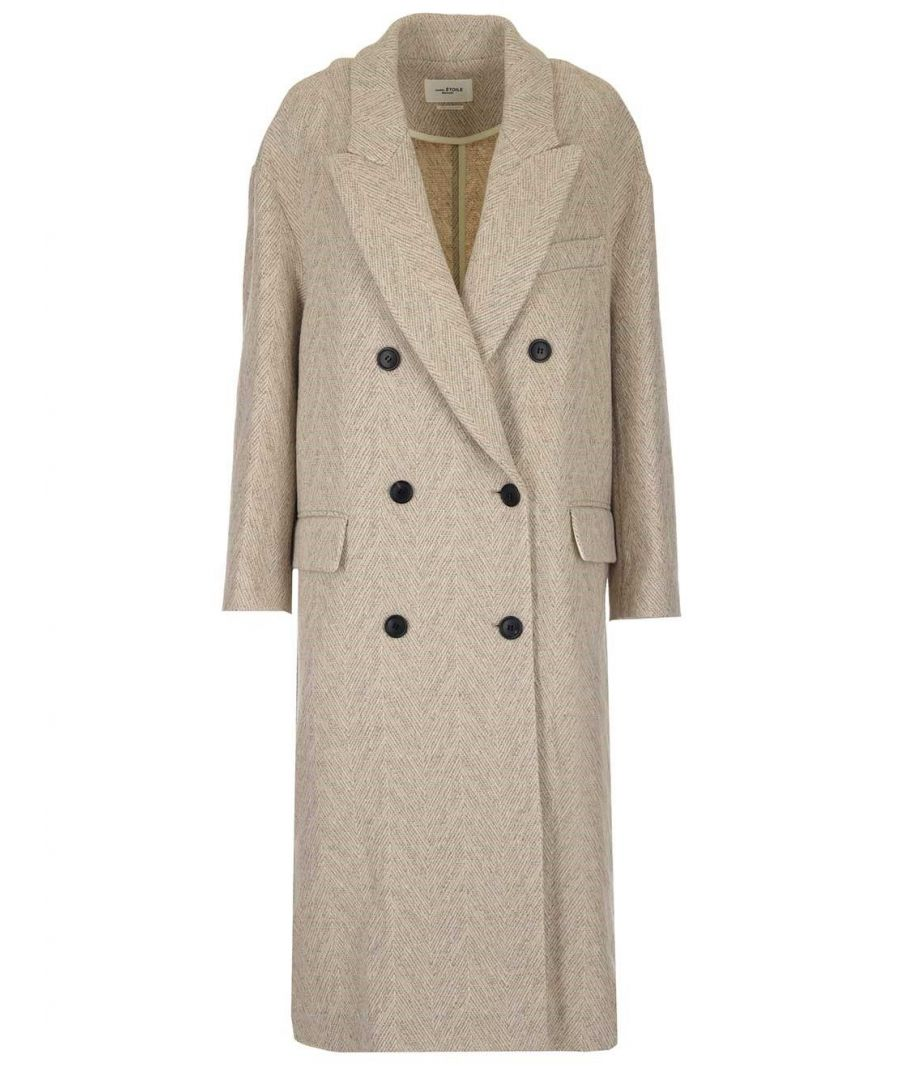 Image for ISABEL MARANT ÉTOILE WOMEN'S MA069920P008E23EC BEIGE WOOL COAT
