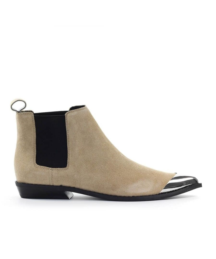 Image for CALVIN KLEIN JEANS WOMEN'S B4R0831230 BEIGE SUEDE ANKLE BOOTS