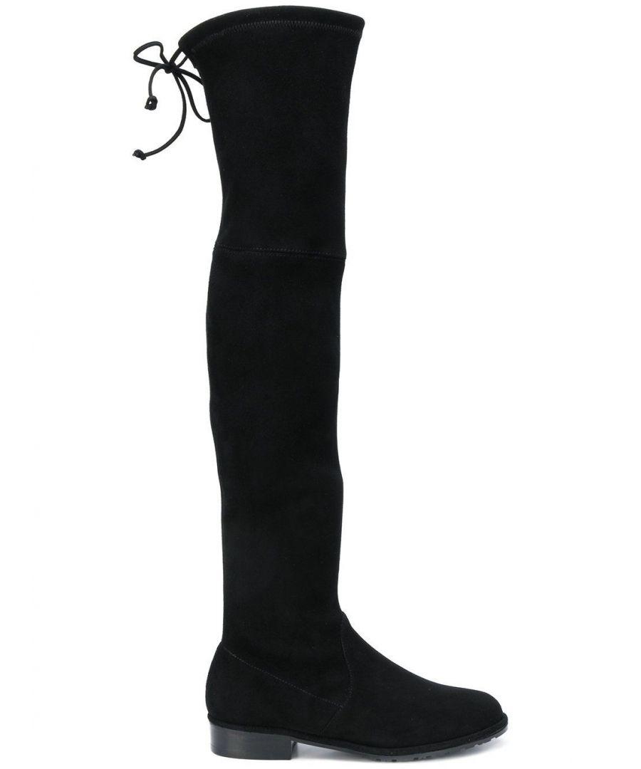 Image for STUART WEITZMAN WOMEN'S LOWLANDBLACK BLACK SUEDE BOOTS