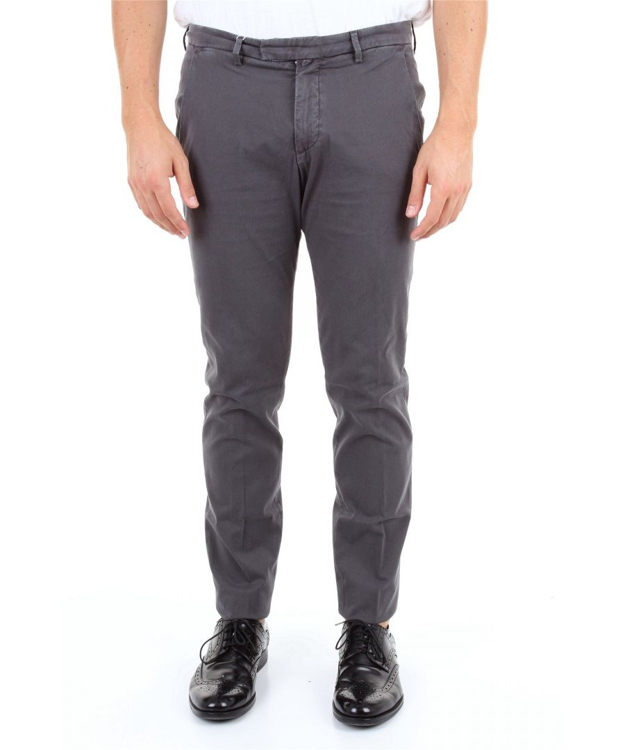 Image for BRIGLIA 1949 MEN'S BG0339511GRIGIOSCURO GREY COTTON PANTS