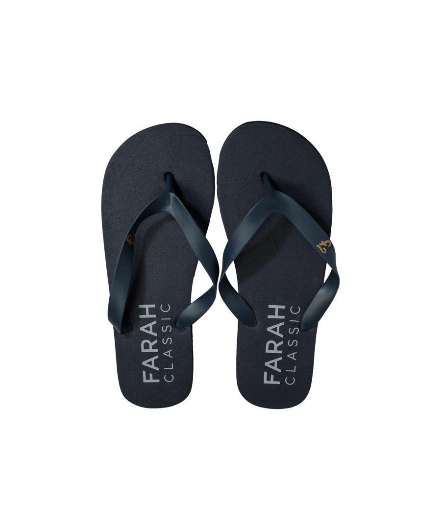 Image for Men's Farah Shore Flip Flop Beach Shoe in Navy