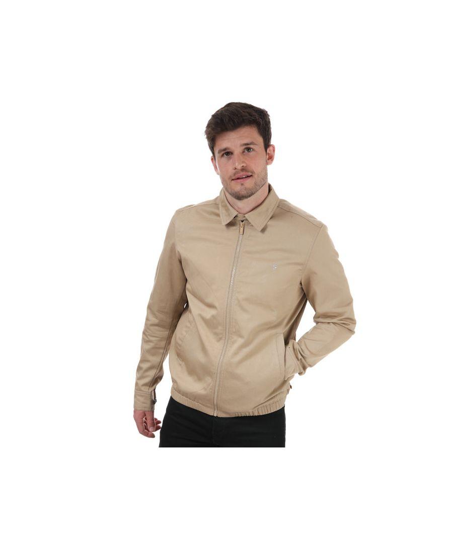 Image for Men's Farah Purvis Harrington Jacket in Sand
