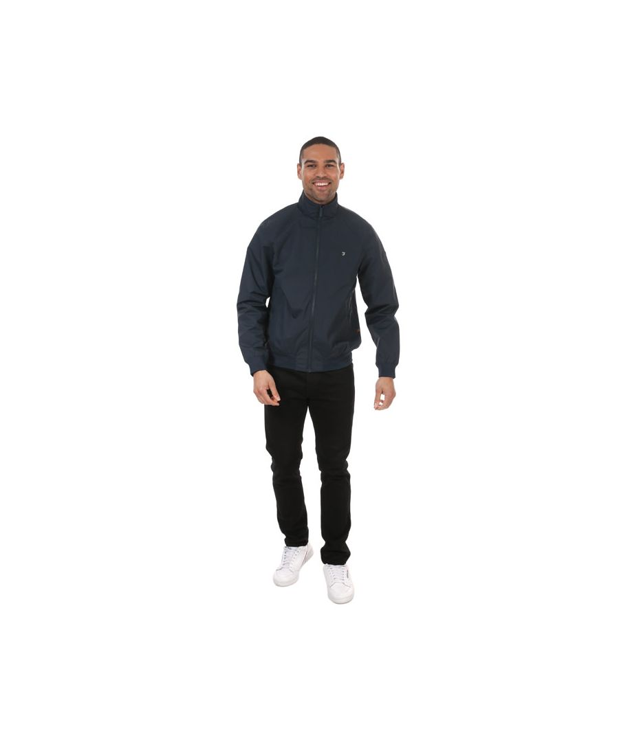 Image for Men's Farah Flint Blouson Jacket in Dark Blue