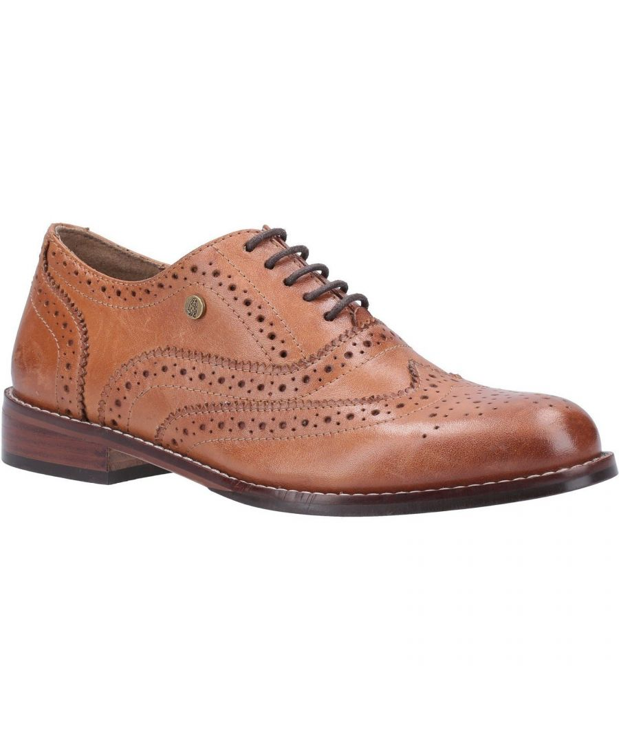 Image for Hush Puppies Women's Natalie Lace Up Leather Brogue Shoe (Tan)