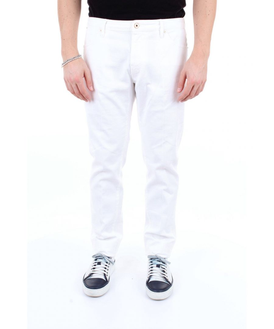Image for PT01 MEN'S TU59VT05Z00MINBIANCO WHITE COTTON PANTS